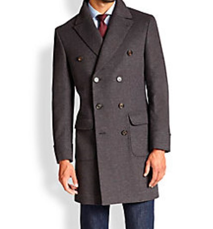 Приталенное Мужское Пальто